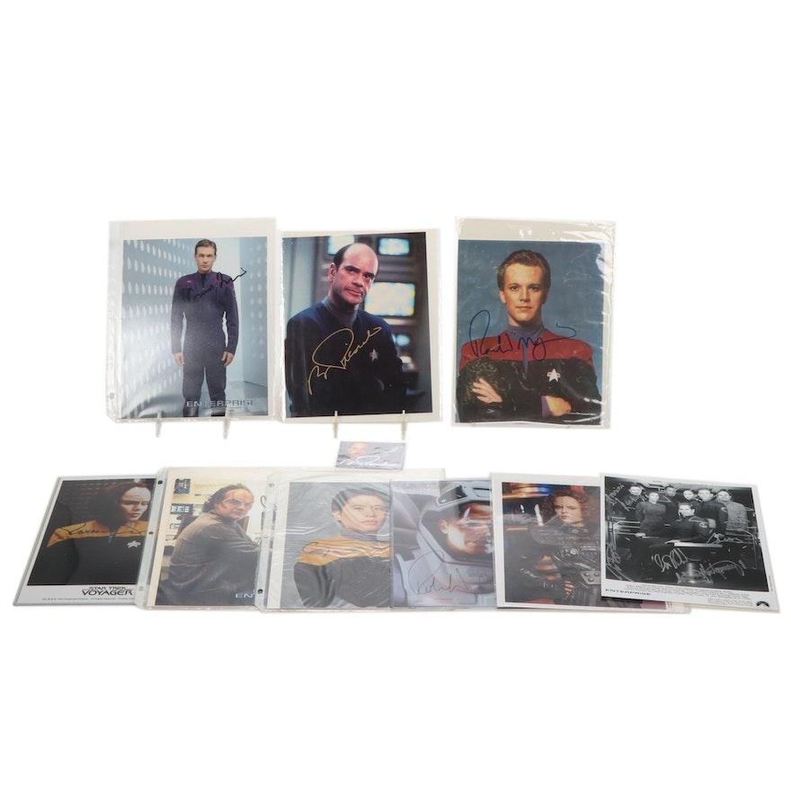 "Star Trek ""Voyager"" and ""Enterprise"" Cast Signed Photographs"