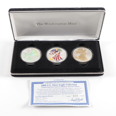 2006 $1 American Silver Eagle Three-Coin Set Issued by The Washington Mint