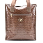Mario Valentino Brown Monogram Tote Bag