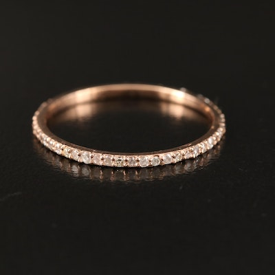 14K Rose Gold Diamond Eternity Ring