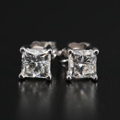 14K 1.05 CTW Diamond Stud Earrings