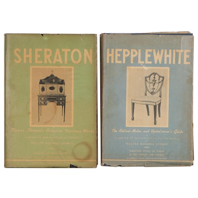 Hepplewhite and Sheraton Furniture and Cabinet Design Books, 1940s