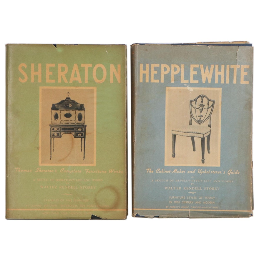 Hepplewhite and Sheraton Furniture and Cabinet Design Books, 1940s