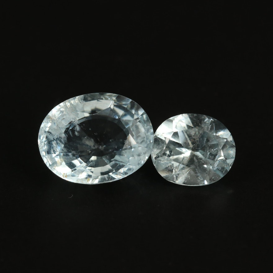 Loose 5.61 CTW Oval Faceted Aquamarines