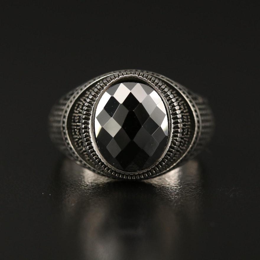 Sterling Black Spinel Ring