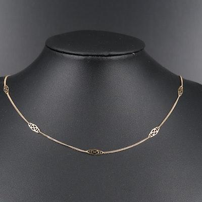 14K Fancy Chain Necklace