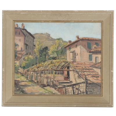 Arthur Kowalski Oil Painting of Florence, Italy, Early to Mid 20th Century