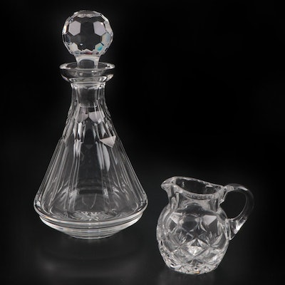 Waterford Crystal Decanter and Other Creamer