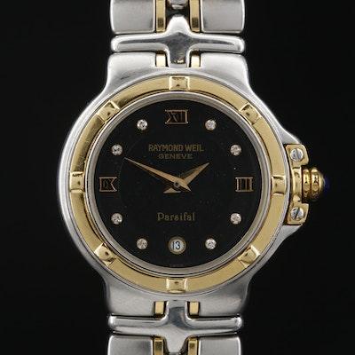 Raymond Weil Parsifal Diamonds and Two Tone Stainless Steel Quartz Wristwatch