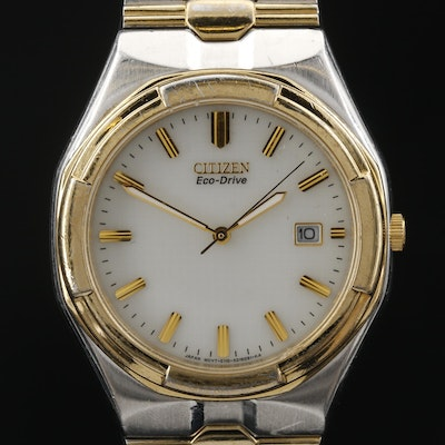Citizen Eco - Drive Stainless Steel Two Tone Wristwatch
