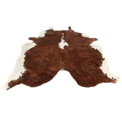 5'11 x 6'8 Natural Cowhide Rug