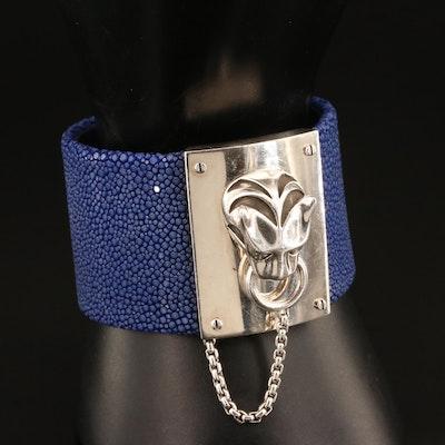 "John Hardy Legend"" Macan Sterling Silver, Stingray Leather and Topaz Bracelet"