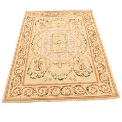 10'25 x 13'7 Handmade Sino-French Aubusson Style Woven Rug