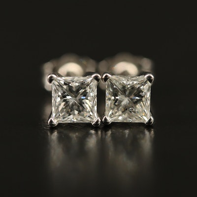 14K 1.11 CTW Diamond Stud Earrings with GIA eReports