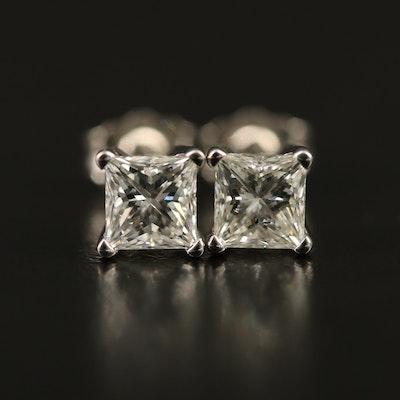 14K 1.11 CTW Diamond Stud Earrings with GIA eReports