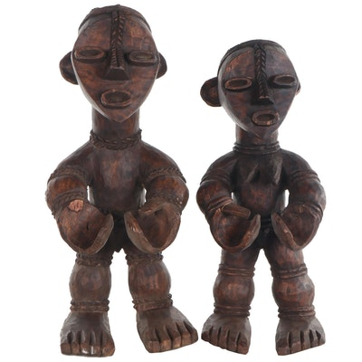 Grebo Style Hand-Carved Wood Figures, West Africa