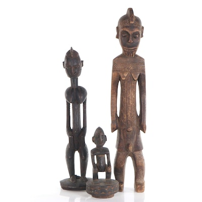 West African Carved Wood Figures