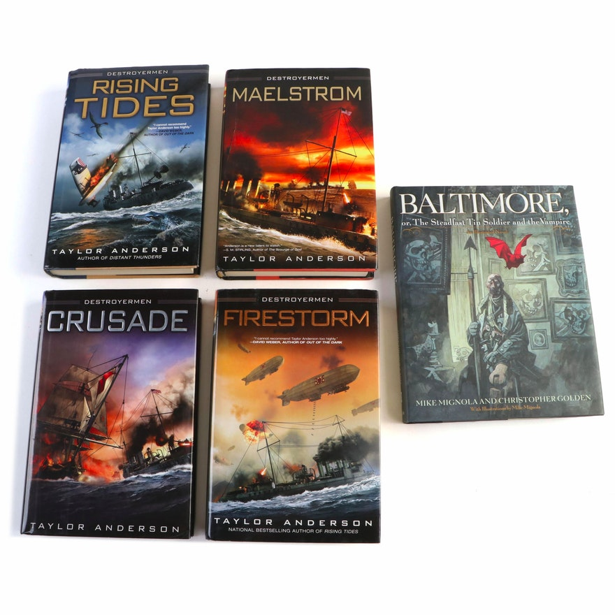 """Four Taylor Anderson's """"Destroyermen"""" Series Books, and """"Baltimore"""" Novel"""