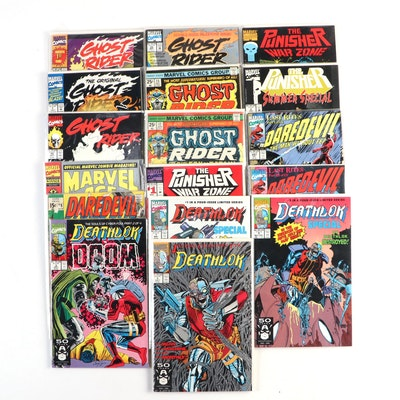 """""""The Punisher,"""" """"Ghost Rider,"""" """"Daredevil,"""" and """"Deathlok"""" Comics"""