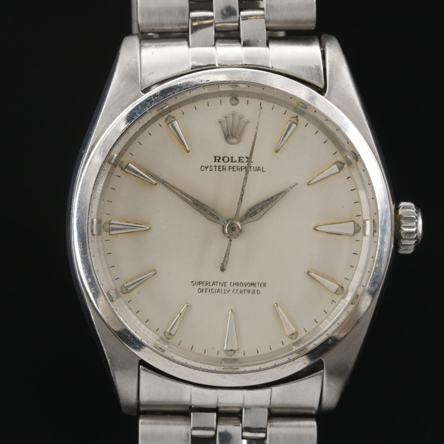 1962 Rolex Oyster Perpetual Stainless Steel Automatic Wristwatch