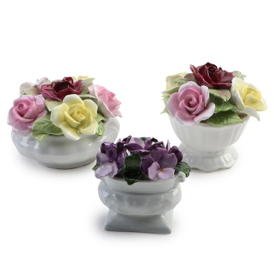Coalport and Aynsley Bone China Floral Figurines