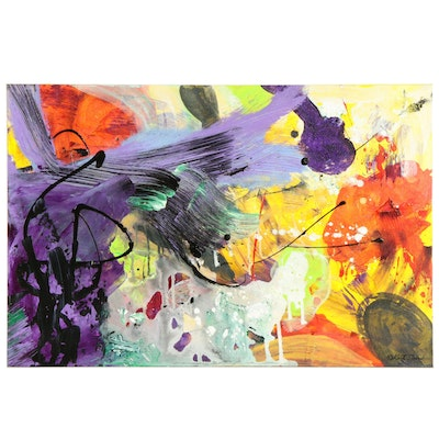 Kurt Shaw Abstract Expressionist Acrylic Painting, 21st century