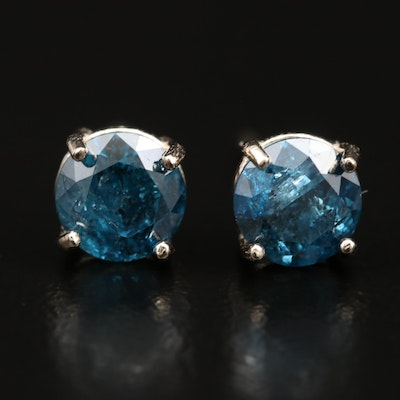 14K 1.37 CTW Diamond Stud Earrings
