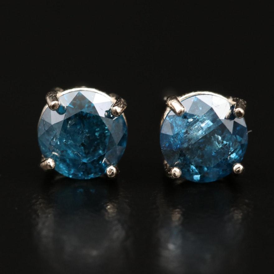 14K 1.37 CTW Diamond Stud Earrings