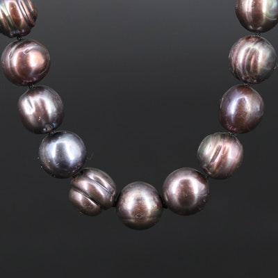 Knotted Pearl Necklace with 14K Clasp