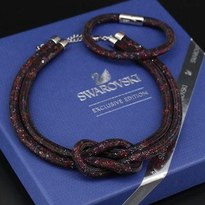 Swarovski Crystal Stardust Multi-Color Necklace and Bracelet Set