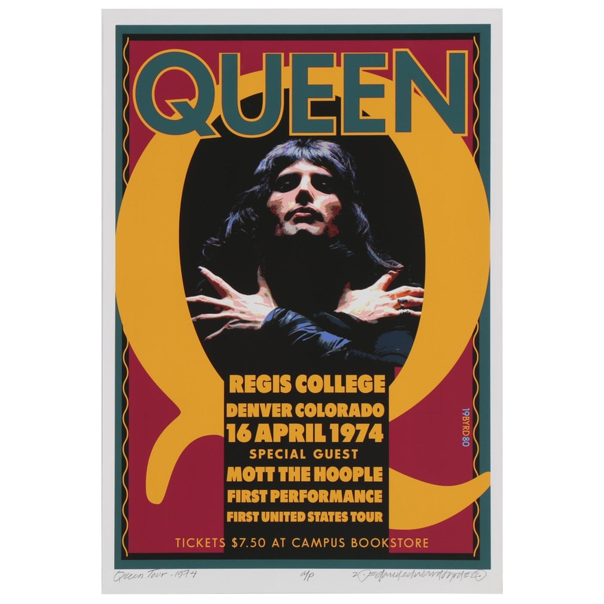 "David Edward Byrd Giclée ""Queen First Tour at Regis College, Denver 1974"", 2020"