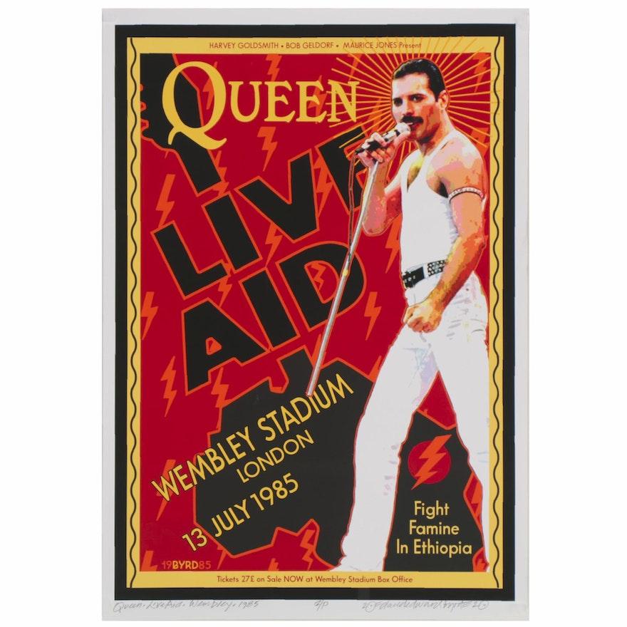 "David Edward Byrd Giclée ""Queen Live Aid Wembley Stadium July 1985,"" 2020"