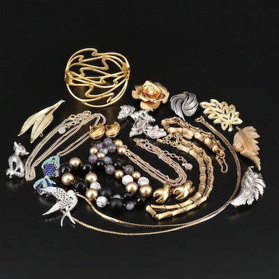 Jewelry Featuring Coro and Bird Brooch