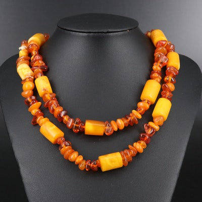 Copal and Mutton Fat Copal Endless Necklace