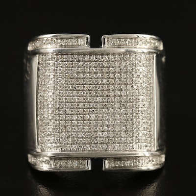 Sterling Silver 1.00 CTW Diamond Ring