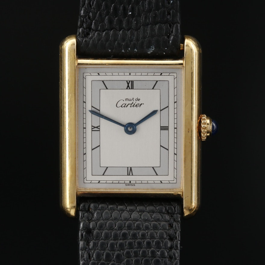 Cartier Tank Vermeil Quartz Wristwatch