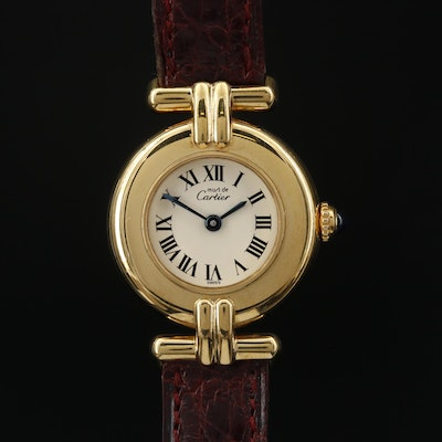 Cartier Colisee Vermeil Quartz Wristwatch