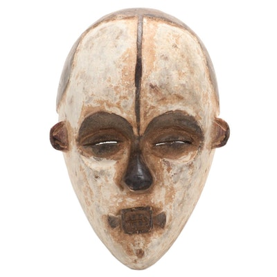 Ibibio-Igbo Style Carved Wood Mask, Nigeria, Late 20th Century