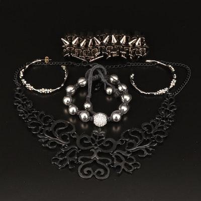 Assortment of Jewelry Featuring Eddie Borgo Stud Bracelet and Openwork Necklace