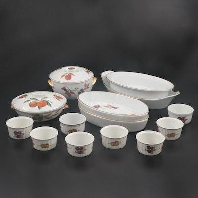 """Royal Worchester """"Evesham Gold"""" Porcelain Bakeware"""