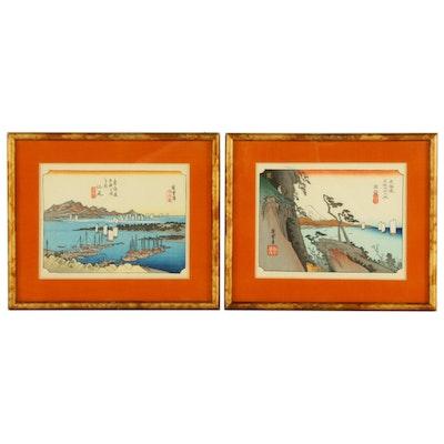 Woodblock Prints after Utagawa Hiroshige