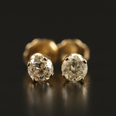 14K 0.67 CTW Diamond Stud Earrings