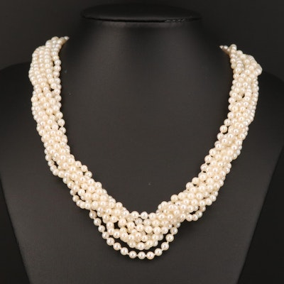Knotted Pearl Endless Necklace