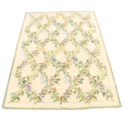 9'10 x 13'7 Handmade Sino-French Aubusson Style Woven Rug