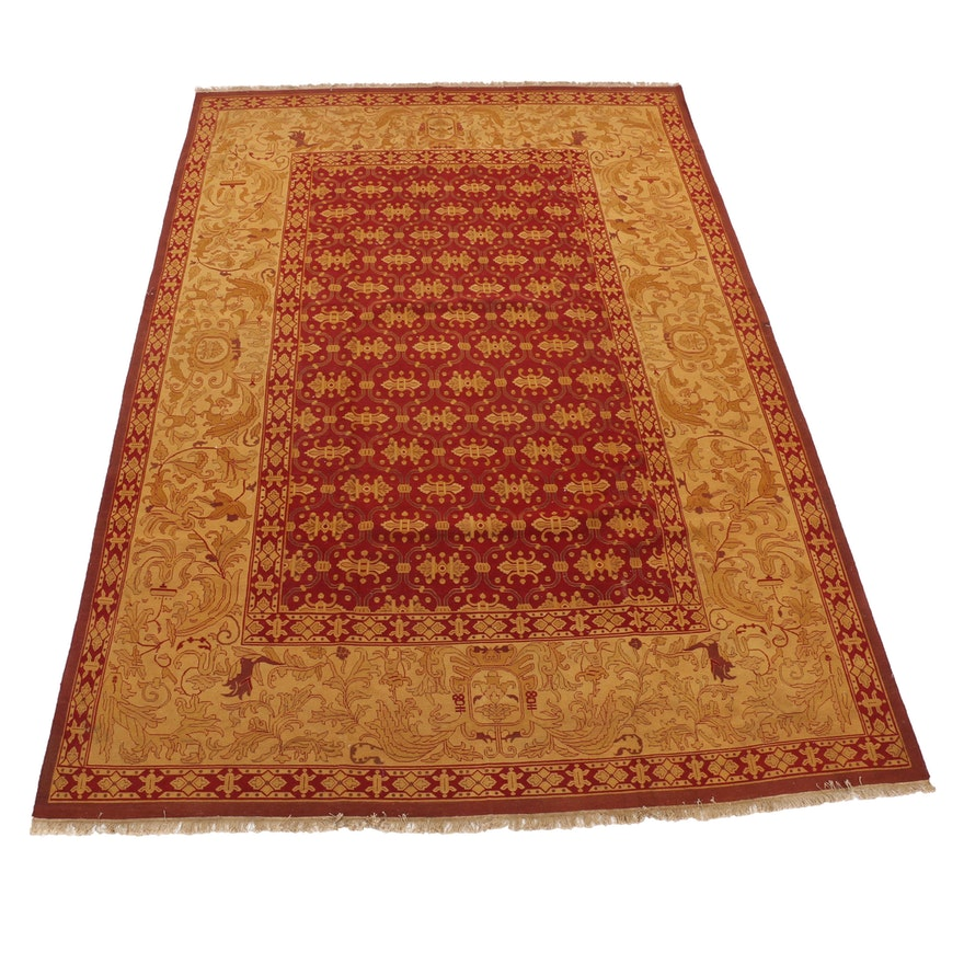 9'6 x 14'1 Handwoven Safavieh Indian Sumak Collection Wool Rug