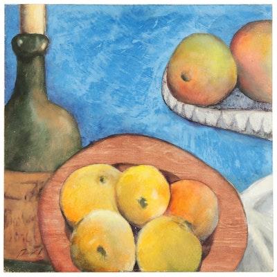 "Jennifer Rempel Still Life Venetian Plaster Painting ""Cezanne's Oranges"""