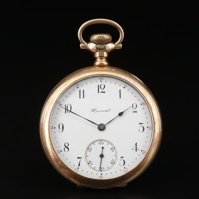 1908 Howard Gold Filled Pocket Watch