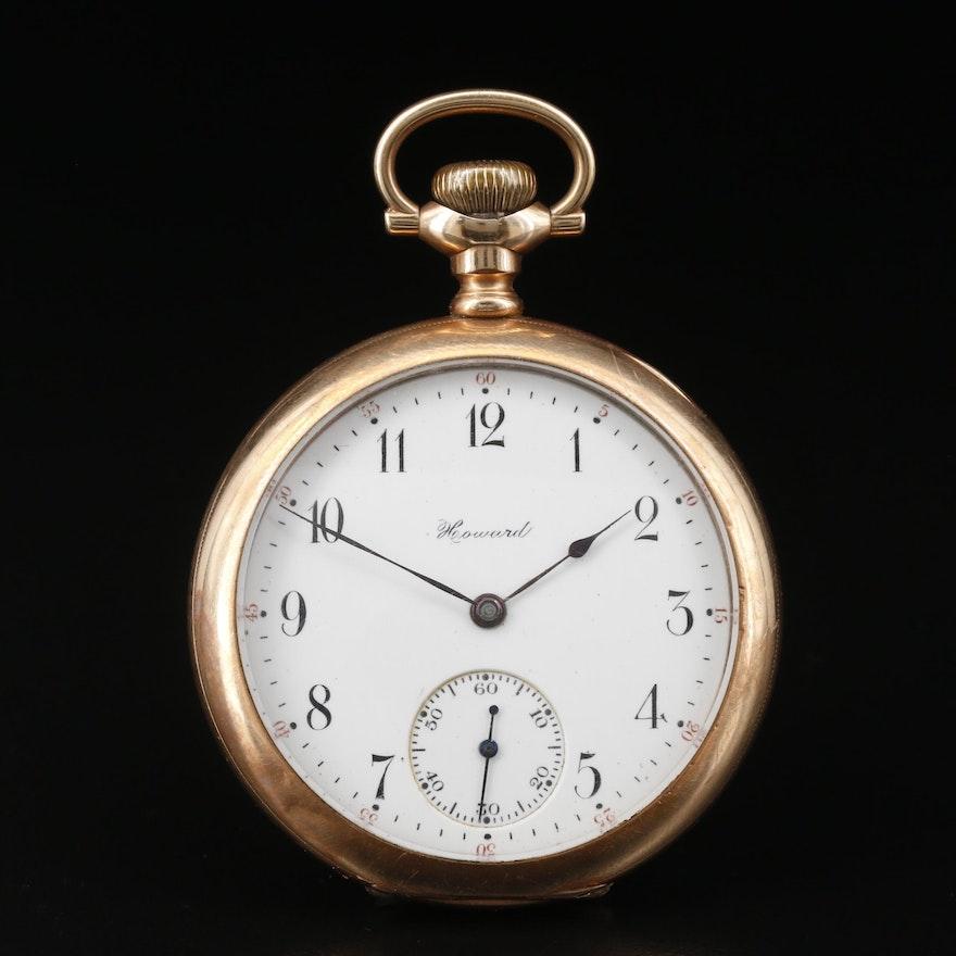 1908 Howard Gold Filled Pocket Watch
