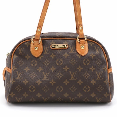 Louis Vuitton Montorgueil PM Handbag in Monogram Canvas and Vachetta Leather
