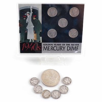 U.S. Silver Dimes and Morgan Silver Dollar